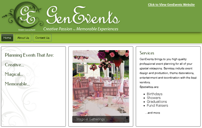 Click Here to View GenEvents Website